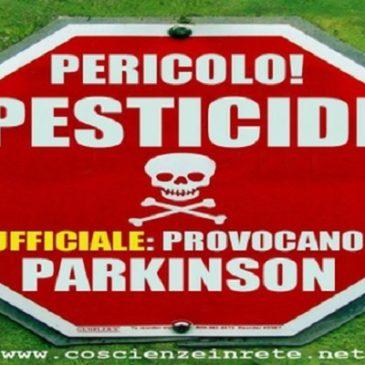 Parkinson e pesticidi:  un nuovo studio ne conferma  il rischio