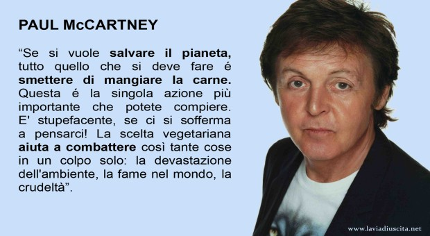 Paul-McCartney-frase vegetariani - lavaidiuscita.net