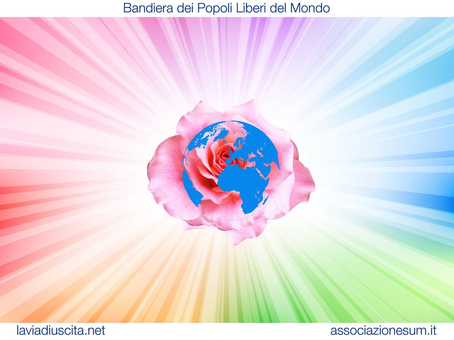 La Bandiera dei Popoli Liberi del Mondo ideata da Isha Babaji