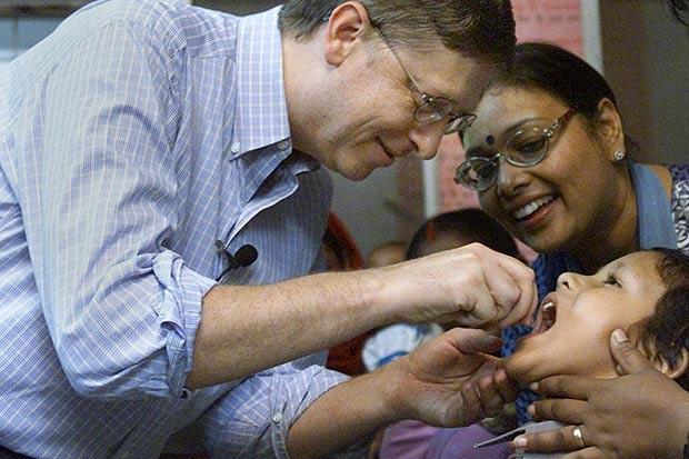 bill gates polio vaccine