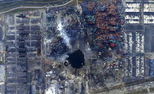 Nessun esplosivo lascia crateri come quello di Tianjin