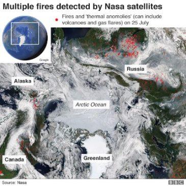 Polo Nord in fiamme, disastro ambientale senza precedenti